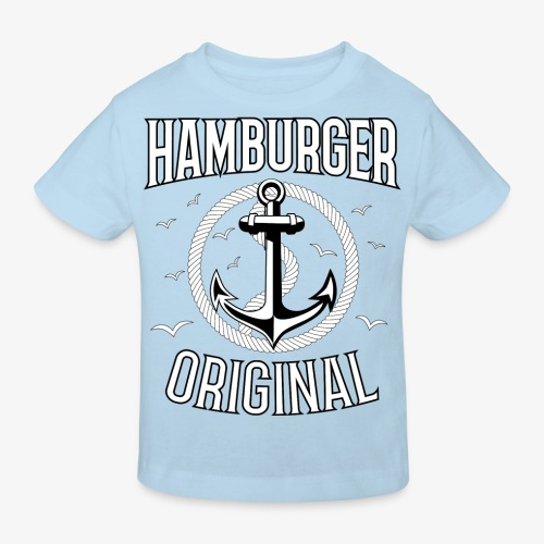 95 Hamburger Original Anker Seil - Kinder Bio-T-Shirt