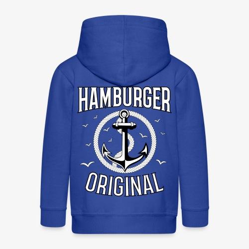 95 Hamburger Original Anker Seil - Kinder Premium Kapuzenjacke