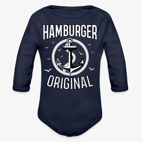 95 Hamburger Original Anker Seil - Baby Bio-Langarm-Body