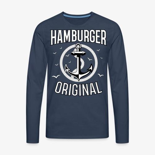 95 Hamburger Original Anker Seil - Männer Premium Langarmshirt