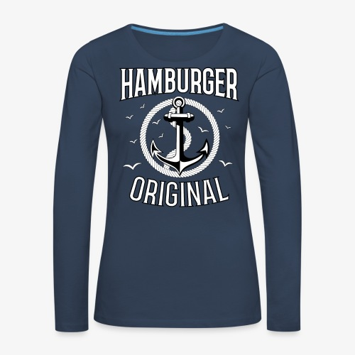 95 Hamburger Original Anker Seil - Frauen Premium Langarmshirt