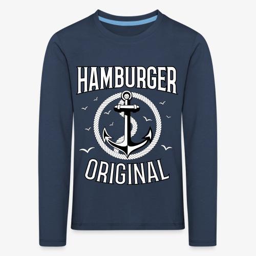 95 Hamburger Original Anker Seil - Kinder Premium Langarmshirt