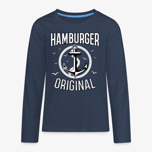 95 Hamburger Original Anker Seil - Teenager Premium Langarmshirt