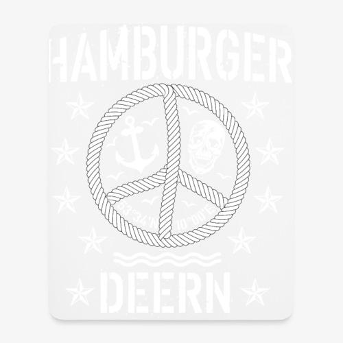 97 Hamburger Deern Peace Friedenszeichen Seil - Mousepad (Hochformat)