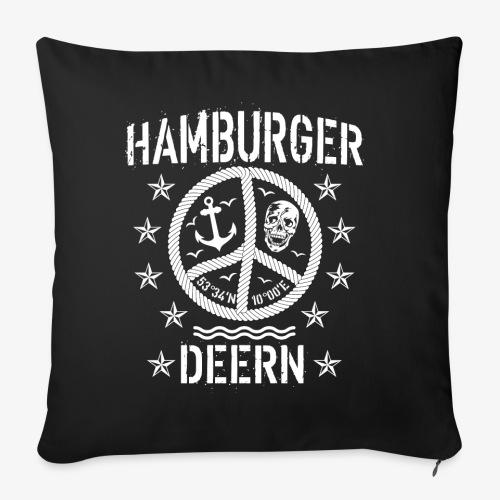 97 Hamburger Deern Peace Friedenszeichen Seil - Sofakissenbezug 44 x 44 cm