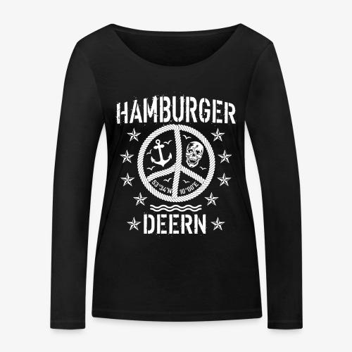 97 Hamburger Deern Peace Friedenszeichen Seil - Frauen Bio-Langarmshirt von Stanley & Stella