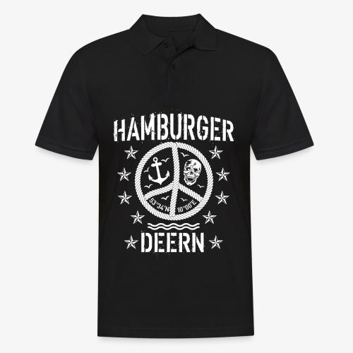 97 Hamburger Deern Peace Friedenszeichen Seil - Männer Poloshirt
