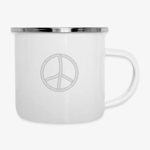 97 Hamburger Deern Peace Friedenszeichen Seil - Emaille-Tasse