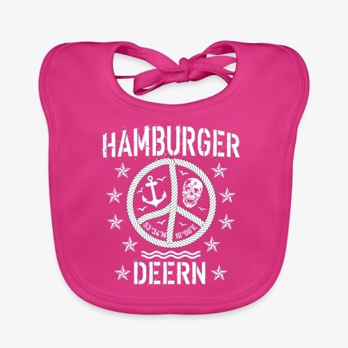 97 Hamburger Deern Peace Friedenszeichen Seil - Baby Bio-Lätzchen
