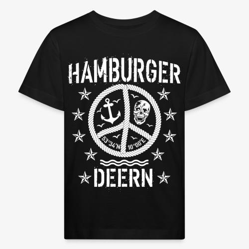 97 Hamburger Deern Peace Friedenszeichen Seil - Kinder Bio-T-Shirt