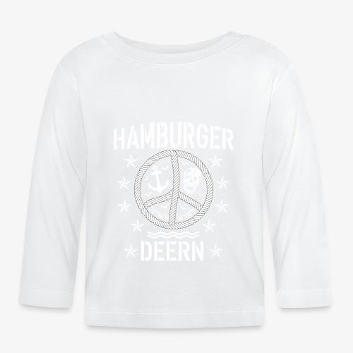 97 Hamburger Deern Peace Friedenszeichen Seil - Baby Langarmshirt