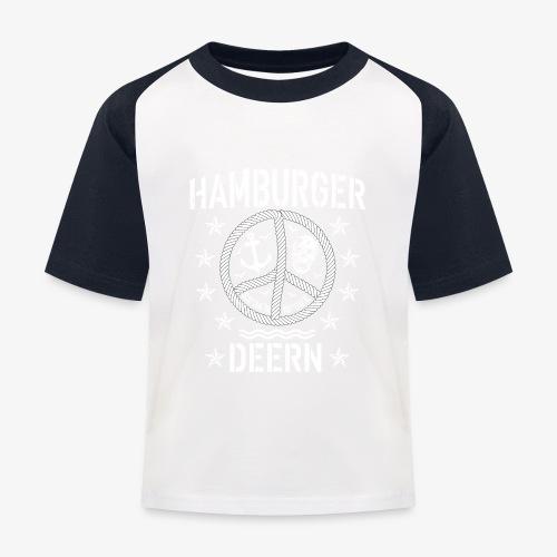 97 Hamburger Deern Peace Friedenszeichen Seil - Kinder Baseball T-Shirt