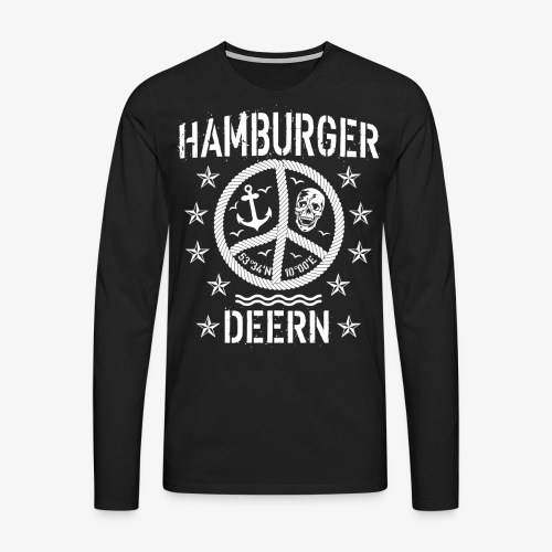 97 Hamburger Deern Peace Friedenszeichen Seil - Männer Premium Langarmshirt