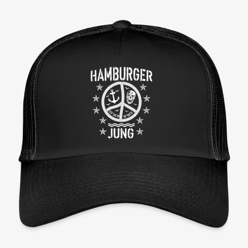 96 Hamburger Jung Peace Friedenszeichen Seil - Trucker Cap