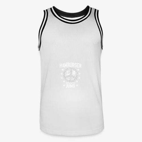 96 Hamburger Jung Peace Friedenszeichen Seil - Männer Basketball-Trikot