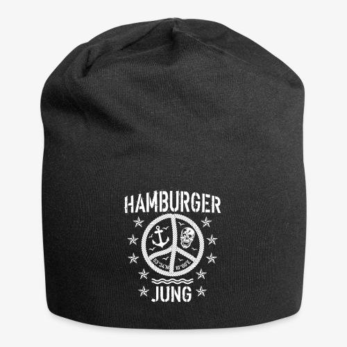 96 Hamburger Jung Peace Friedenszeichen Seil - Jersey-Beanie