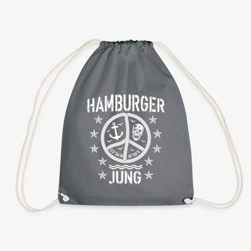 96 Hamburger Jung Peace Friedenszeichen Seil - Turnbeutel