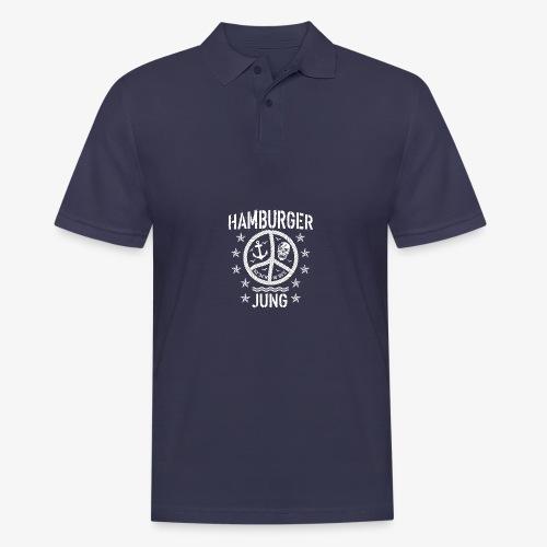 96 Hamburger Jung Peace Friedenszeichen Seil - Männer Poloshirt