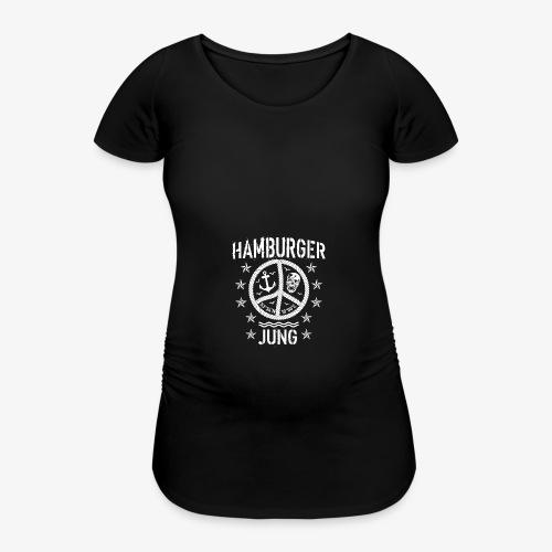96 Hamburger Jung Peace Friedenszeichen Seil - Frauen Schwangerschafts-T-Shirt