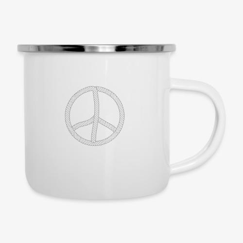 96 Hamburger Jung Peace Friedenszeichen Seil - Emaille-Tasse