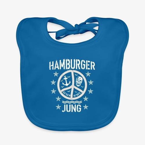 96 Hamburger Jung Peace Friedenszeichen Seil - Baby Bio-Lätzchen