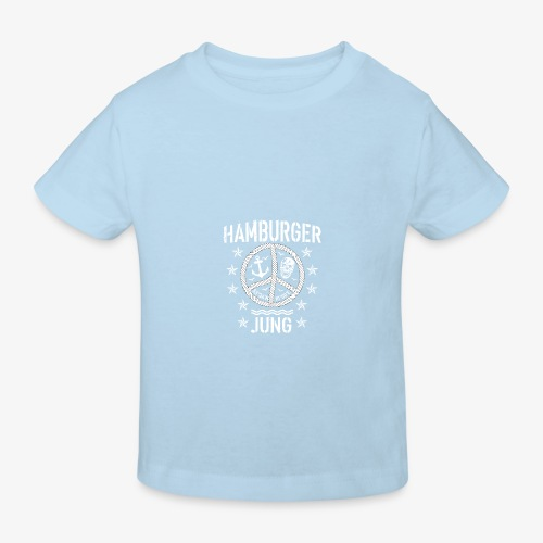 96 Hamburger Jung Peace Friedenszeichen Seil - Kinder Bio-T-Shirt