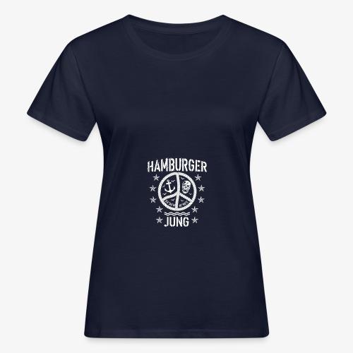 96 Hamburger Jung Peace Friedenszeichen Seil - Frauen Bio-T-Shirt