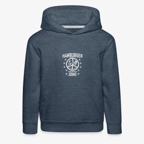 96 Hamburger Jung Peace Friedenszeichen Seil - Kinder Premium Hoodie