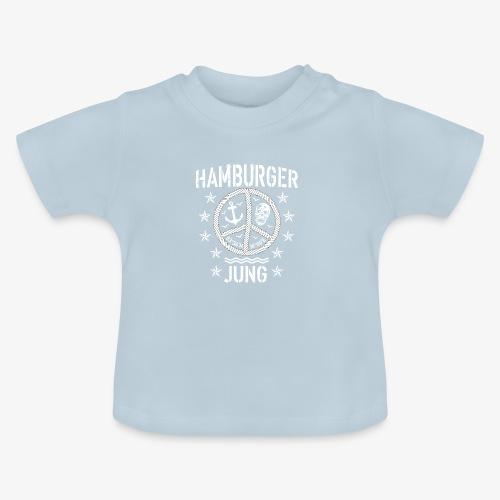 96 Hamburger Jung Peace Friedenszeichen Seil - Baby T-Shirt
