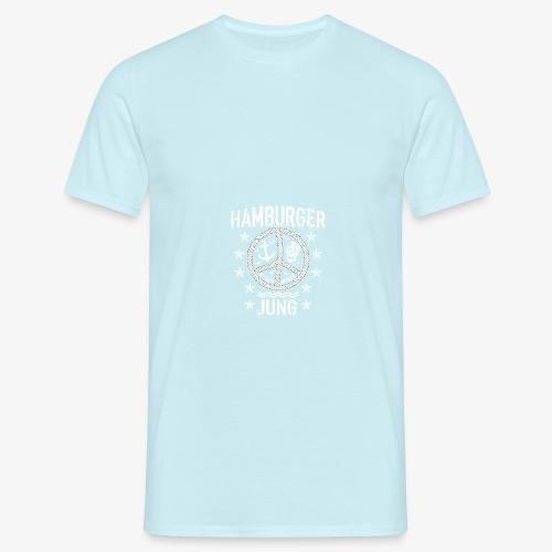 96 Hamburger Jung Peace Friedenszeichen Seil - Männer T-Shirt
