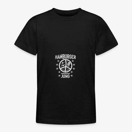 96 Hamburger Jung Peace Friedenszeichen Seil - Teenager T-Shirt