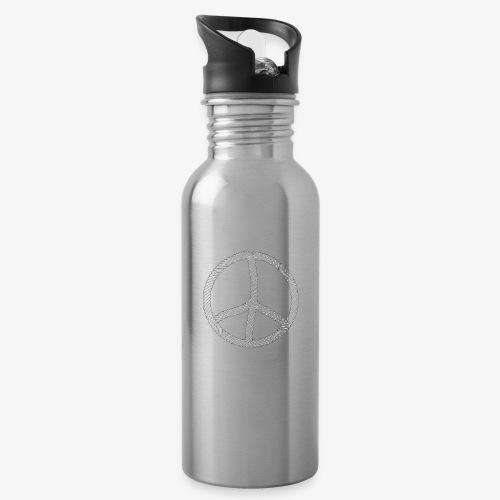 96 Hamburger Jung Peace Friedenszeichen Seil - Trinkflasche