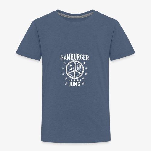 96 Hamburger Jung Peace Friedenszeichen Seil - Kinder Premium T-Shirt