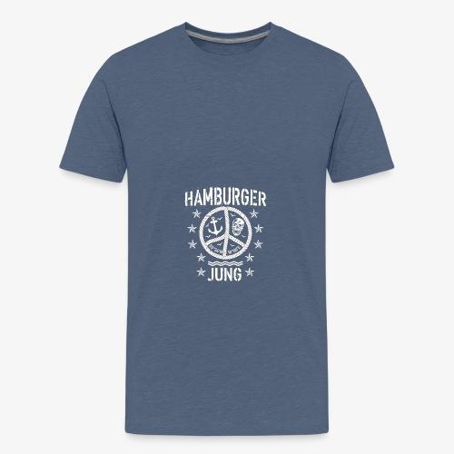 96 Hamburger Jung Peace Friedenszeichen Seil - Teenager Premium T-Shirt