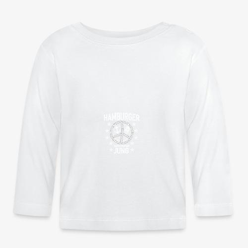 96 Hamburger Jung Peace Friedenszeichen Seil - Baby Langarmshirt