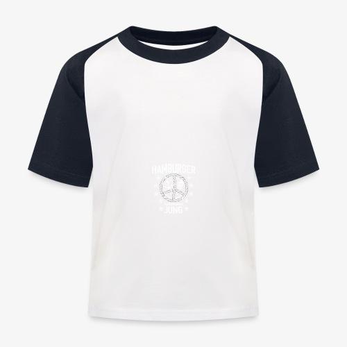 96 Hamburger Jung Peace Friedenszeichen Seil - Kinder Baseball T-Shirt