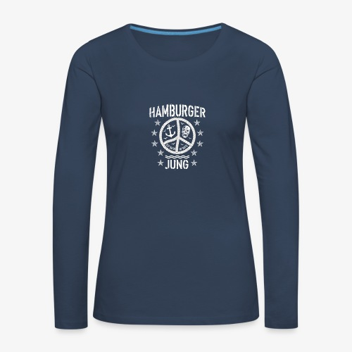 96 Hamburger Jung Peace Friedenszeichen Seil - Frauen Premium Langarmshirt