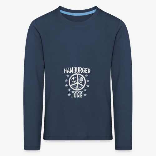 96 Hamburger Jung Peace Friedenszeichen Seil - Kinder Premium Langarmshirt
