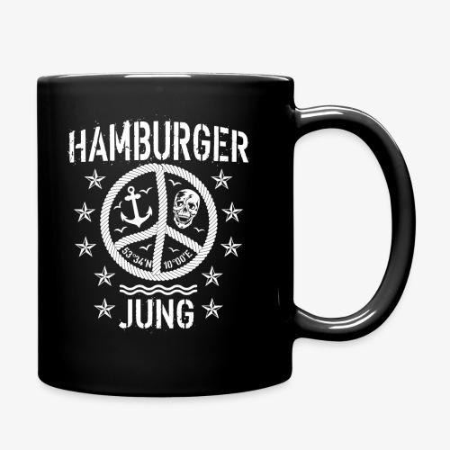 96 Hamburger Jung Peace Friedenszeichen Seil - Tasse einfarbig