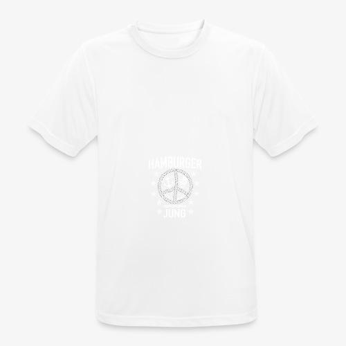 96 Hamburger Jung Peace Friedenszeichen Seil - Männer T-Shirt atmungsaktiv