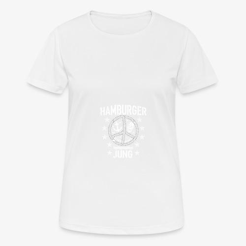 96 Hamburger Jung Peace Friedenszeichen Seil - Frauen T-Shirt atmungsaktiv
