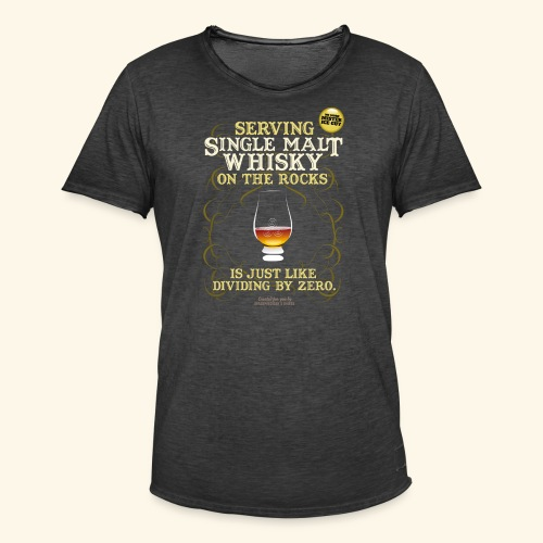 Whisky T Shirt Single Malt on the Rocks - Männer Vintage T-Shirt