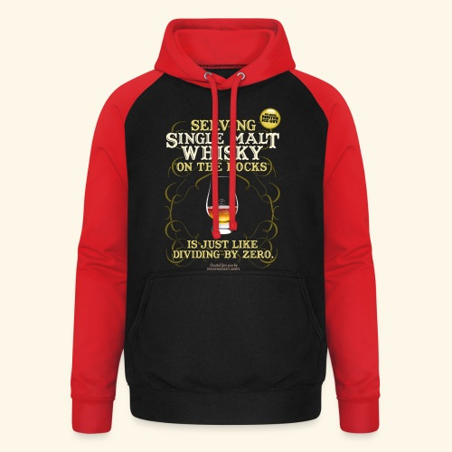 Whisky T Shirt Single Malt on the Rocks - Unisex Baseball Hoodie