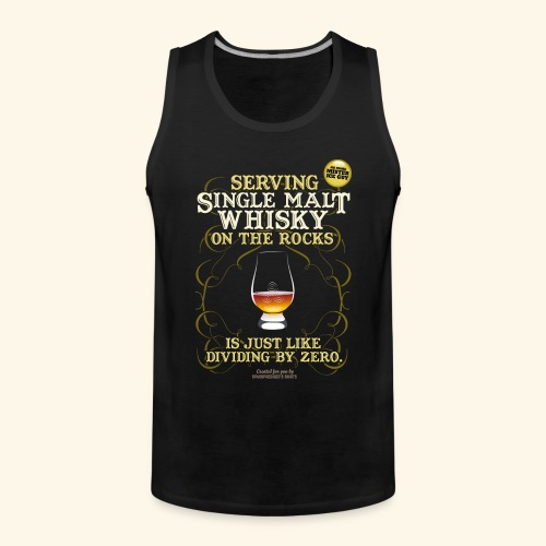 Whisky T Shirt Single Malt on the Rocks - Männer Premium Tank Top