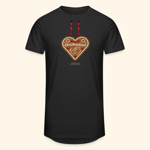 Weihnachts T Shirt Christnixkind Lebkuchenherz - Männer Urban Longshirt