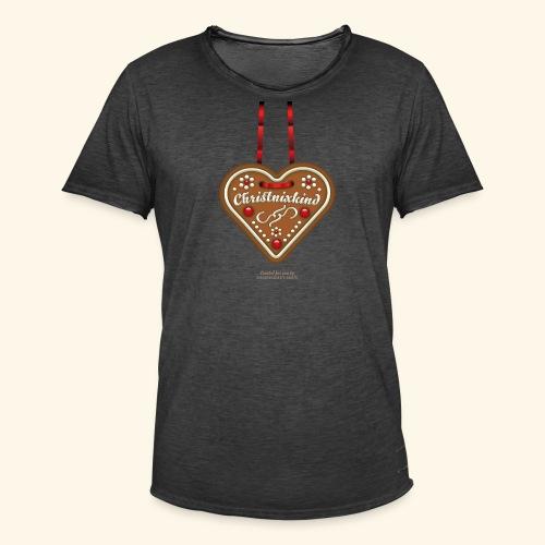 Weihnachts T Shirt Christnixkind Lebkuchenherz - Männer Vintage T-Shirt