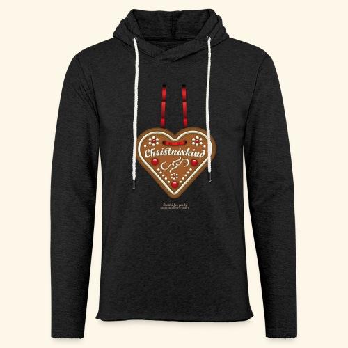 Weihnachts T Shirt Christnixkind Lebkuchenherz - Leichtes Kapuzensweatshirt Unisex