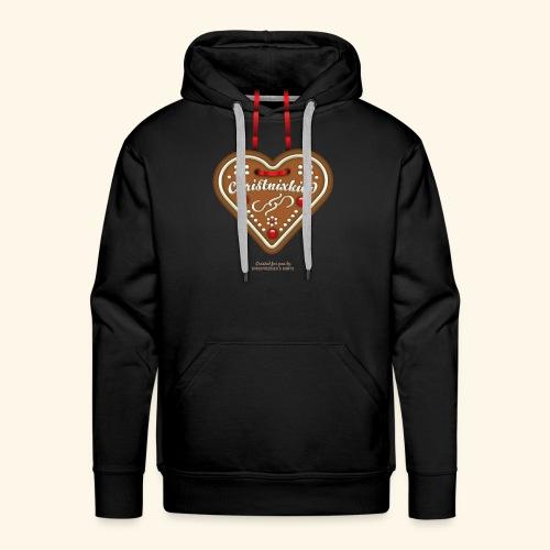 Weihnachts T Shirt Christnixkind Lebkuchenherz - Männer Premium Hoodie