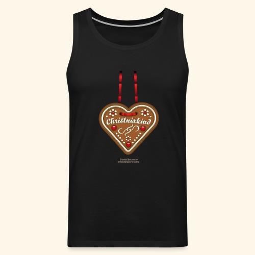 Weihnachts T Shirt Christnixkind Lebkuchenherz - Männer Premium Tank Top