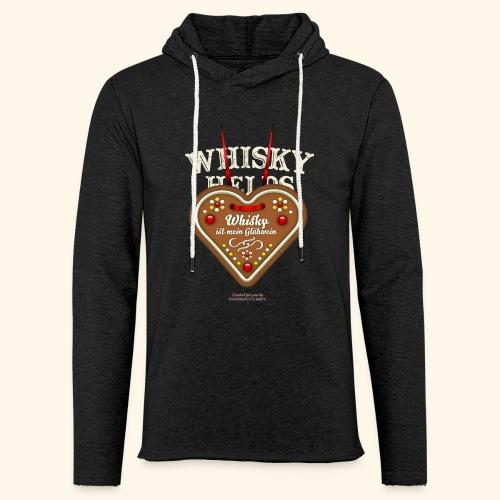 Whisky T Shirt Glühwein & Lebkuchenherz - Leichtes Kapuzensweatshirt Unisex